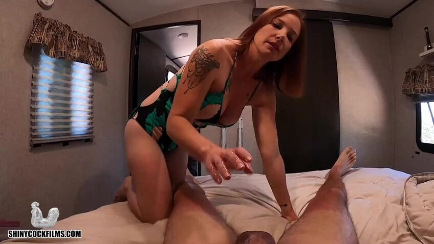 Step Mom Helps Son Relax